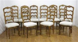 Set of 10 Ladder Back Chairs
