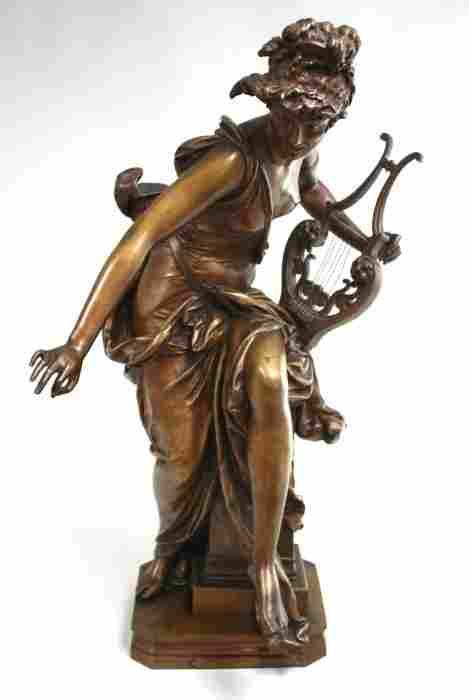 Albert Ernest Carrier-Belleuse Bronze Sculpture