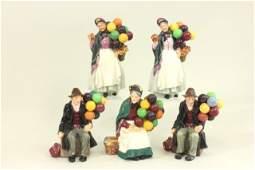 5 Royal Doulton Balloon Figures