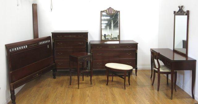 Regency style R Way Mahogany Bedroom Set