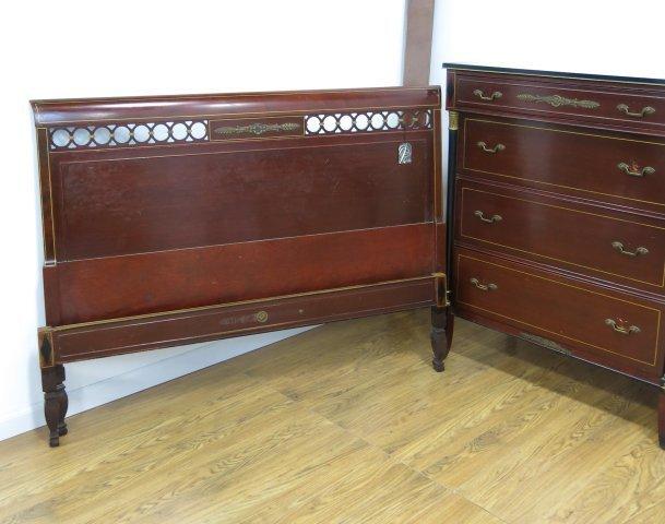 Regency style R Way Mahogany Bedroom Set - 6
