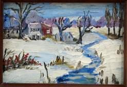 Attr. to Walter Emerson Baum, Winter Landscape