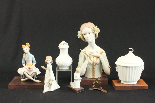 Lot of 6 Porcelain Figures & Other Items
