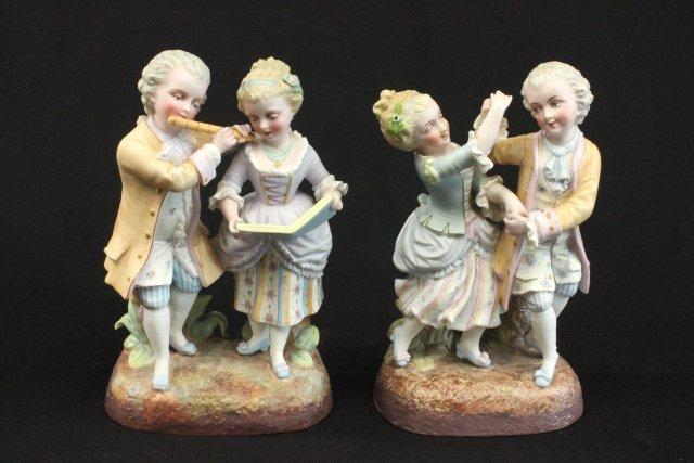 Pair of Bisque Figurines