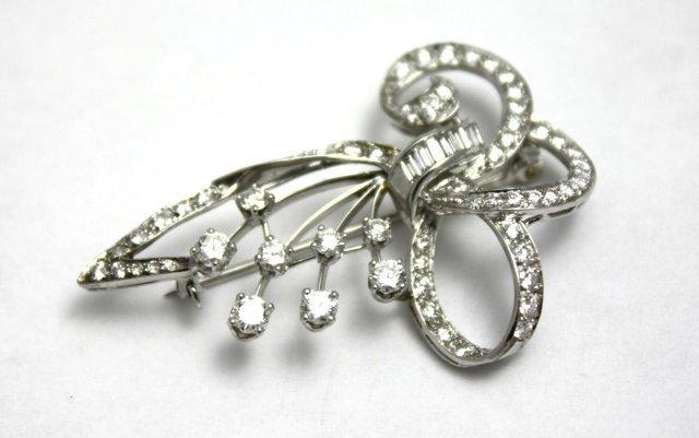 Vintage Platinum & Diamond Brooch