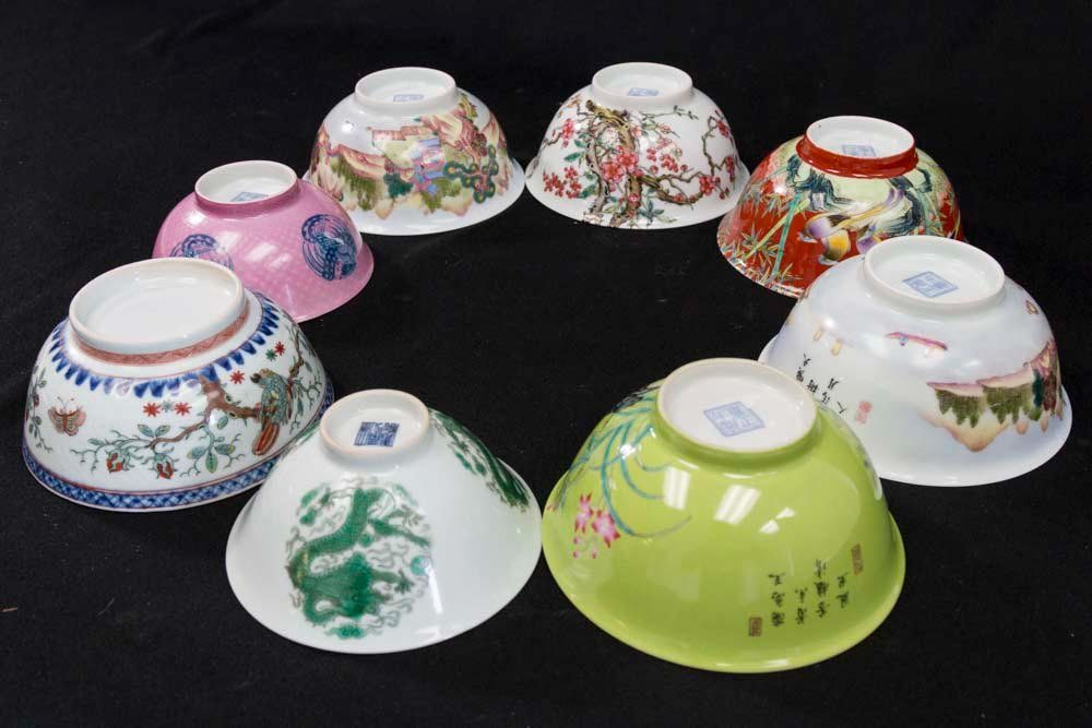 8 Chinese Porcelain Bowls
