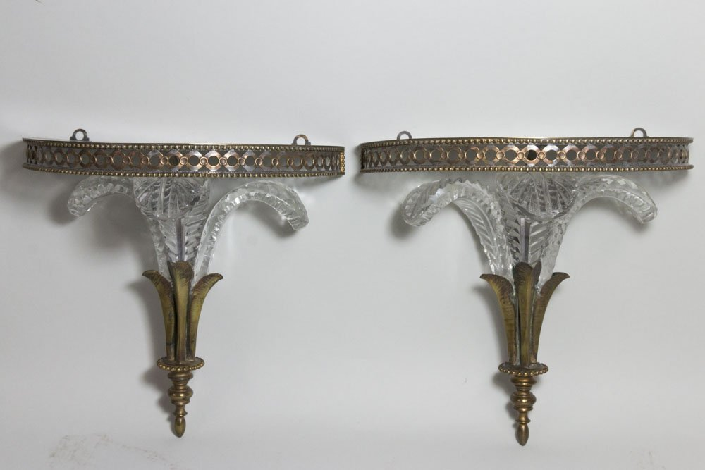 Pair Prince of Wales Wall Brackets