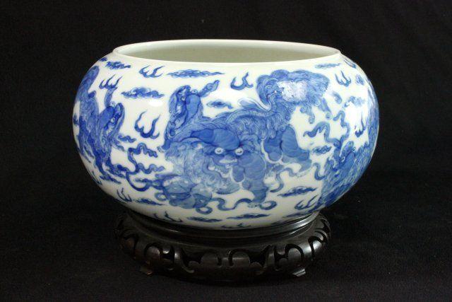 Chinese Republic Porcelain Blue & White Bowl