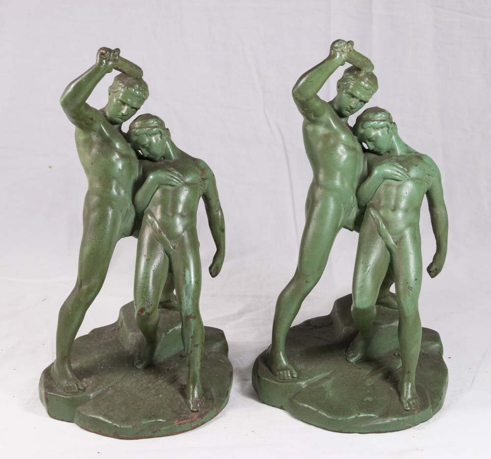 Pair of Composition Bookends