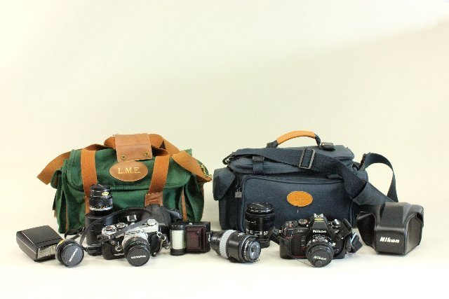 Olympus & Nikon Cameras with Cases & Accessories