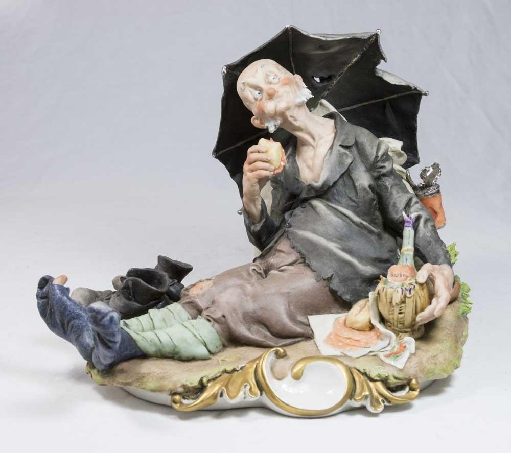 G. Cappe Porcelain Figure, Hobo Dining
