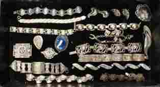 Lot of Silver Costume Jewelry