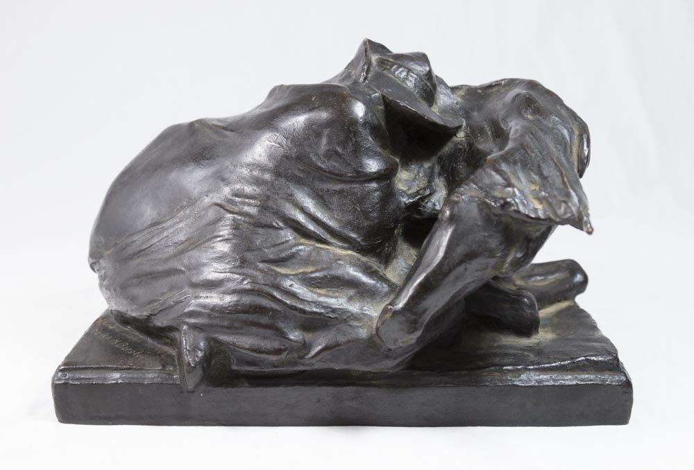 """Solon Hannibal Borglum Bronze, """"Blizzard"""""""