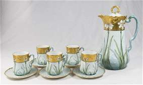 French Limoges Porcelain 6 Piece Tea Set
