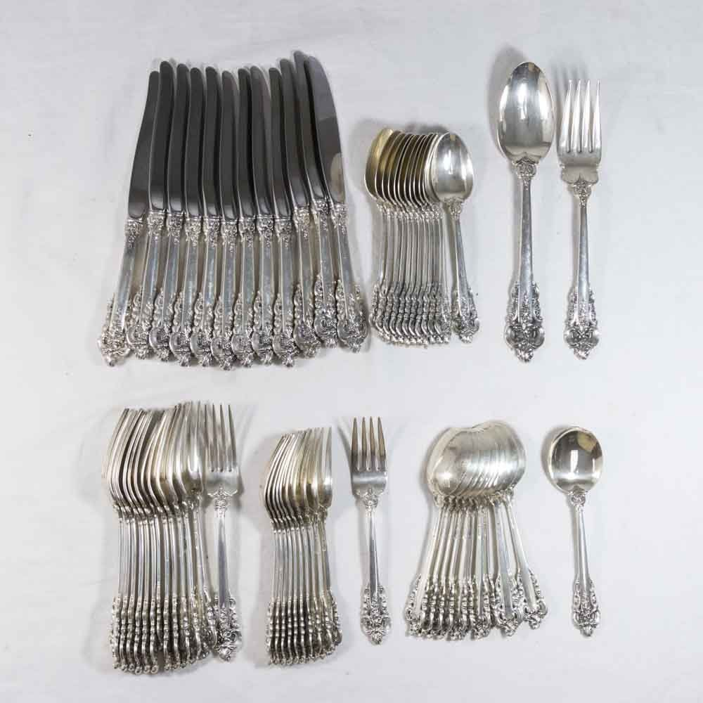 Sterling Silver Grand Baroque Flatware Set