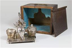 Chinese Silver Figural Condiment Set