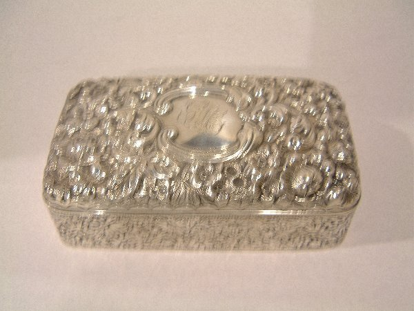 19: ANTIQUE STERLING JEWELRY BOX