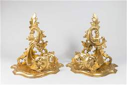 Pair Giltwood French Wall Brackets