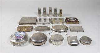 Group Lot of 18 Sterling  Silver Plate Items