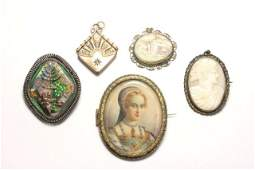 Lot of Cameos and Brooches