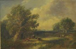 J. Price, English Landscape with Cows