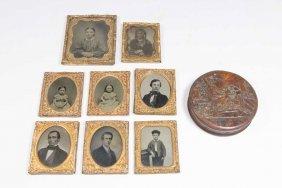 Lot Of 8 Daguerreotypes