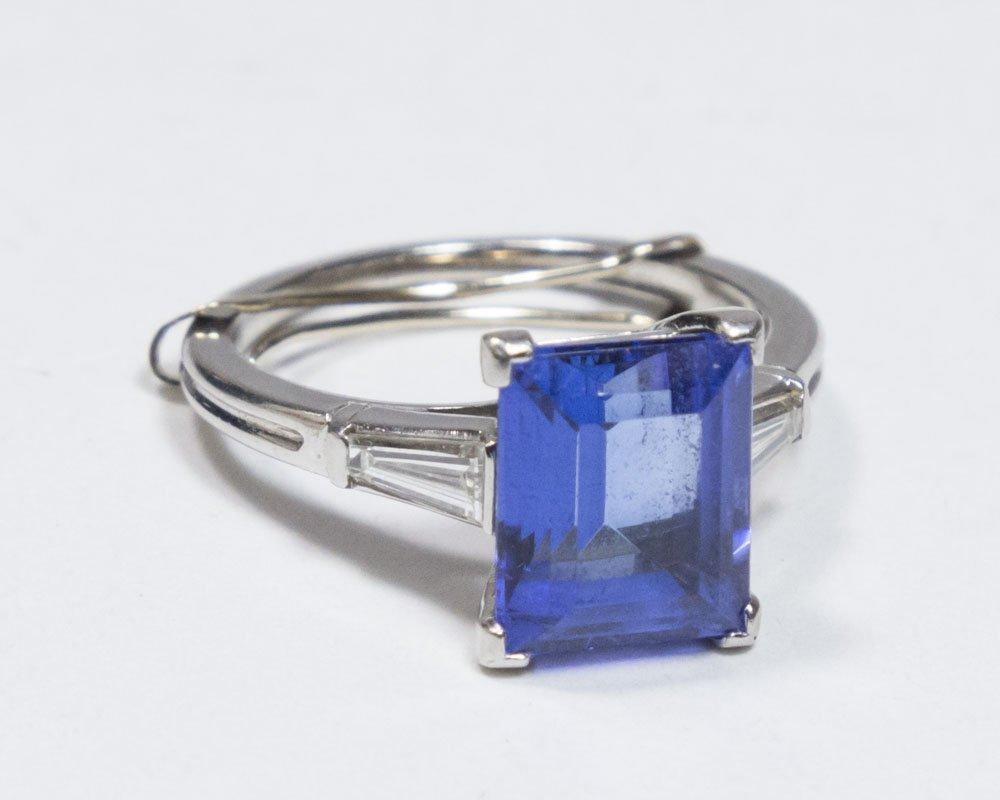 Tiffany & Co. Tanzanite & Diamond Platinum Ring