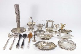 20 Pieces Of Sterling & Continental Silver