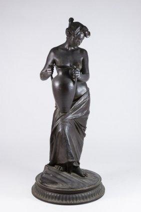 Vincenzo Alfano, Bronze Semi-nude Female With Urn