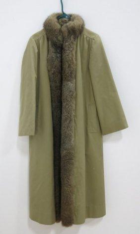 Reversible Rain Coat With Fur Lining