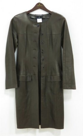 Chanel Leather Coat