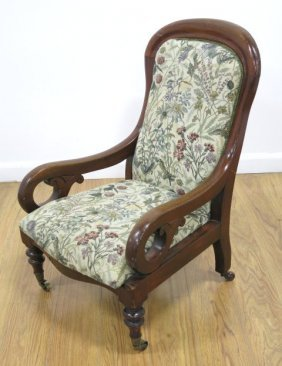 Victorian Mahogany Child's Parlor Chair