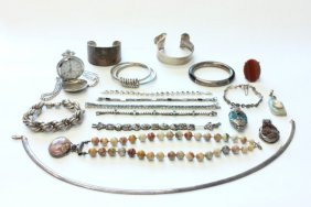 Tray Of Sterling Silver Jewelry