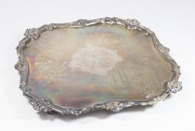 Early 18th Century Silver Footed Tray