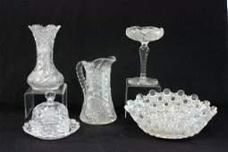 5 Piece Cut Glass Lot