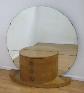 Art Deco Style Demilune 3-drawer Cabinet/vanity
