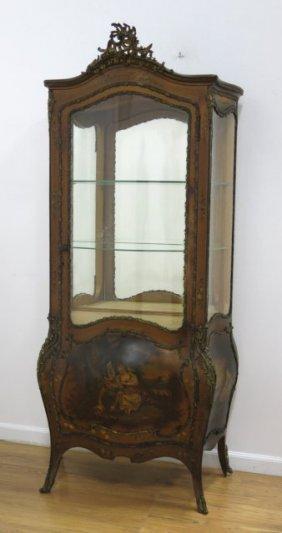 Vernis Martin Bombe Curio Cabinet