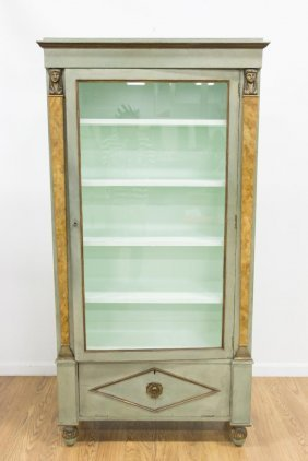 Empire Style Paint-decorated Bookcase