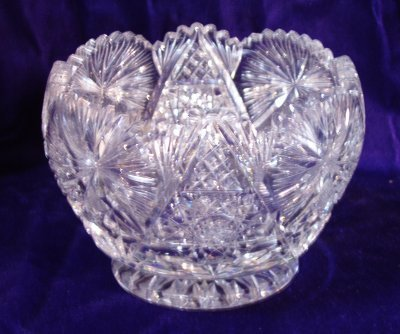 134A: EARLY 20TH C. CRYSTAL BOWL