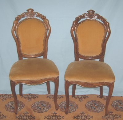 165: 6 ENGLISH CARVED SIDE CHAIRS
