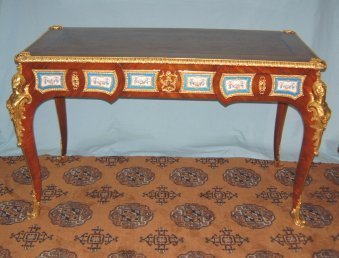 535: 19TH C. BRONZE & PORCELAIN  WRITING DESK APPROX. 5