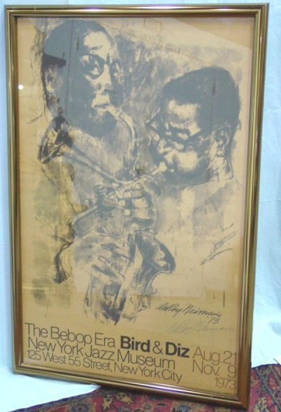 887: JAZZ POSTER SIGNED BY  LEROY NEIMAN