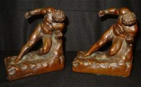933 PAIR FIGURAL BOOKENDS
