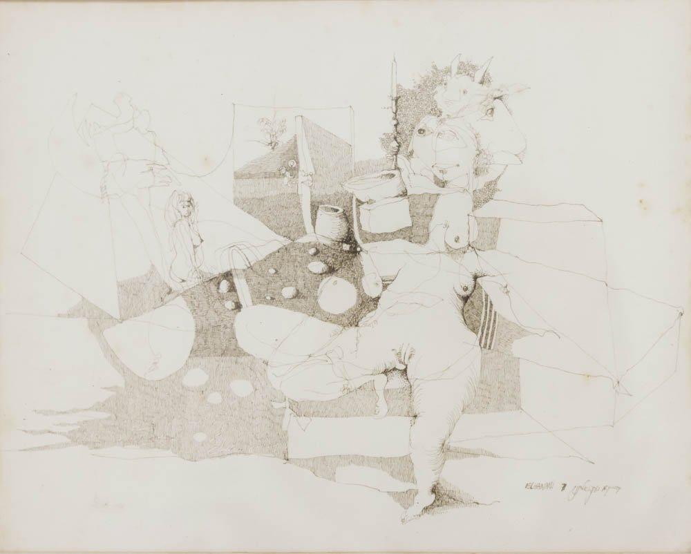 Jacob El Hanani, Abstract Nude