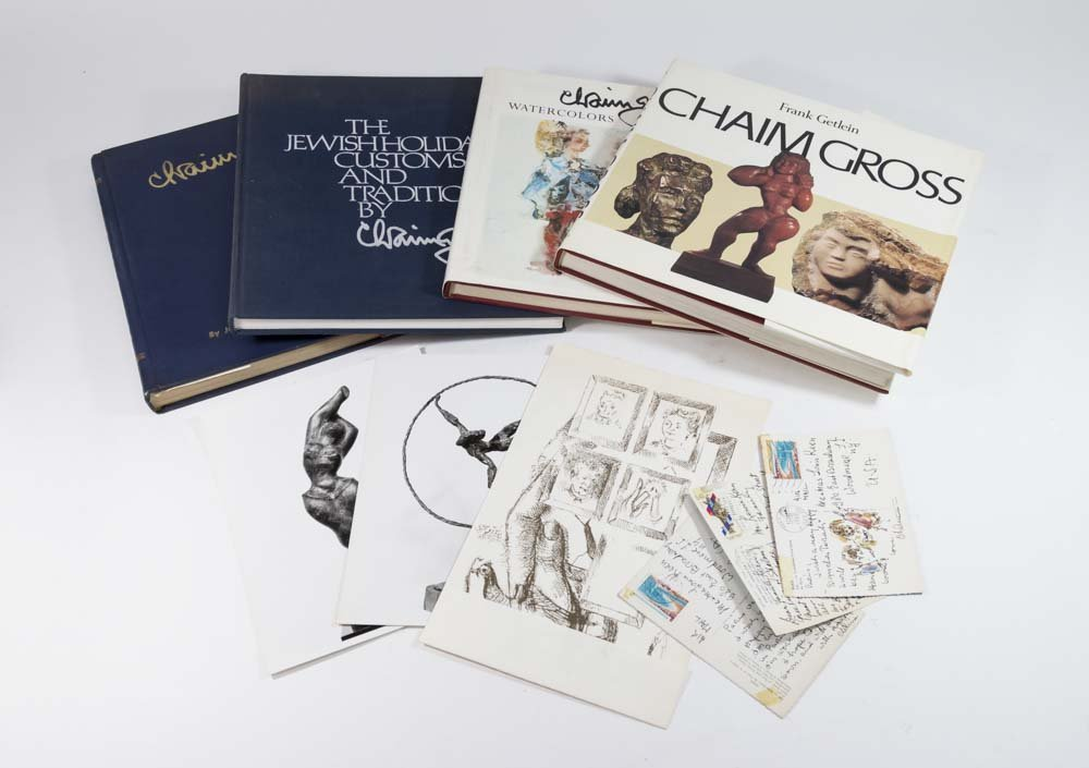 Chaim Gross, 4 Books With Drawings