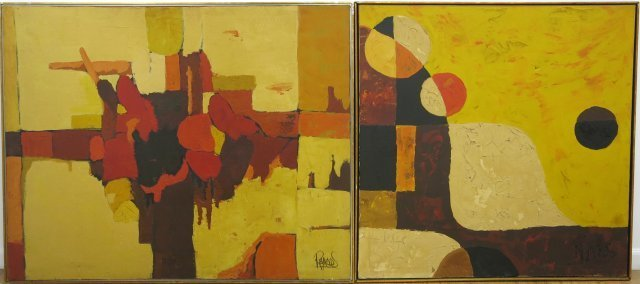 Reynolds, Two Abstract Works