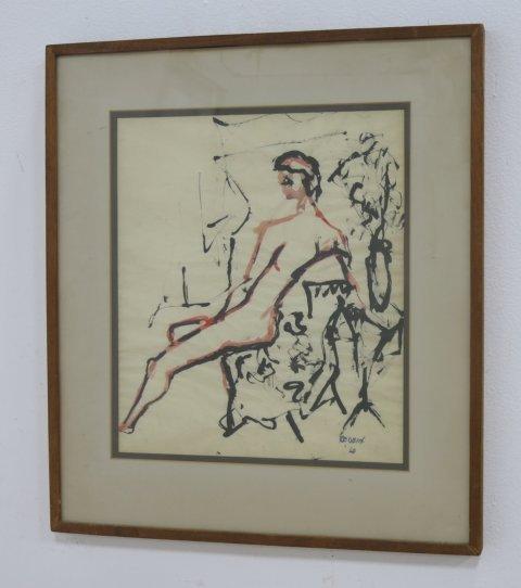 Alex Redein, Sitting Nude