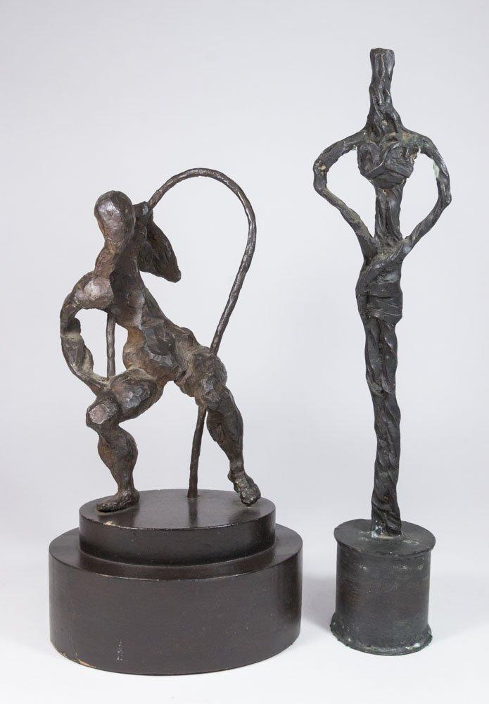 Attributed to Herbert Kallem, 2 Bronze Figures