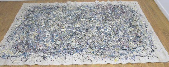 After Jackson Pollock, Abstract Drip Painting