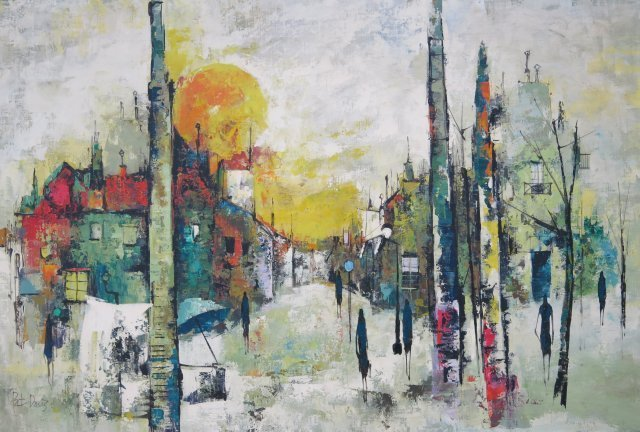 Pat Davis, Abstract Cityscape